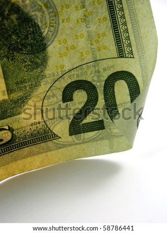 Pictures of twenty dollar US bills