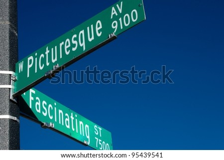 Picturesque and Fascinating Corner Street Signs
