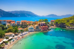 Picturesque Assos village in Kefalonia, Greece