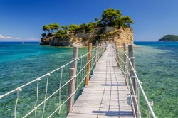 Picturesque Cameo island in Agios Sostis, situated on Laganas bay on the south of Zakynthos island on Ionian Sea, Greece.