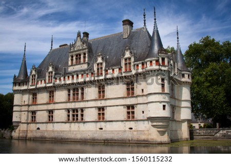 Picturesque chateau in the Loire Valley, France #1560115232
