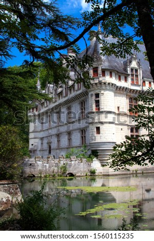 Picturesque chateau in the Loire Valley, France #1560115235