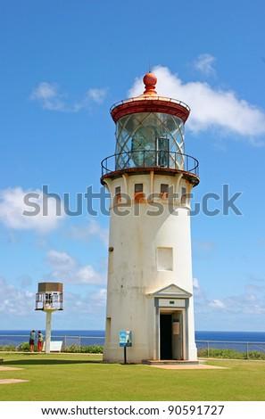 Picturesque Kilauea Historical Lighthouse Kauai Island Hawaii