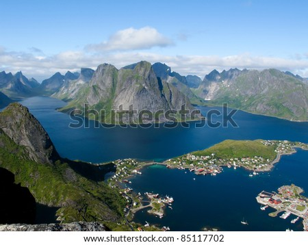 Picturesque landscape at Norway islands