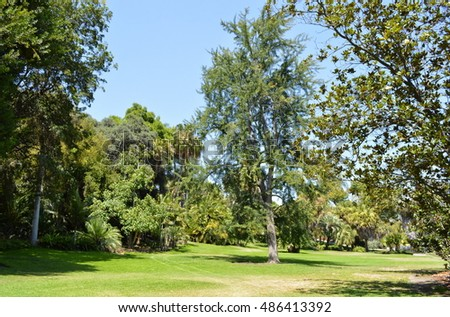 Picturesque landscapes of Huntington Library Gardens. San Marino ...