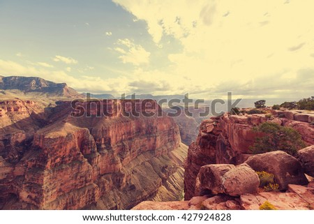 Picturesque landscapes of the Grand Canyon #427924828
