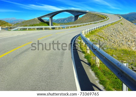 Picturesque Norway landscape. Atlanterhavsvegen - stock photo