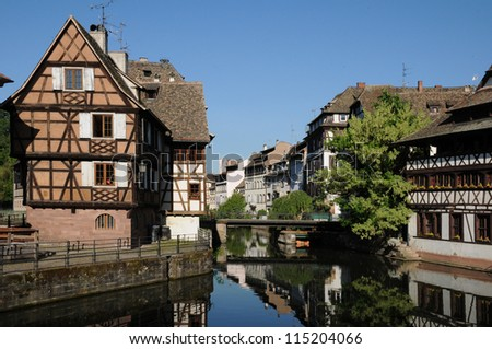 picturesque old house in the district of La Petite France in Strasbourg