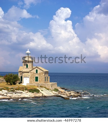 Picturesque sea landscape with  Lighthouse