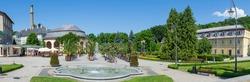 Picturesque spa town of Kudowa Zdroj in Poland