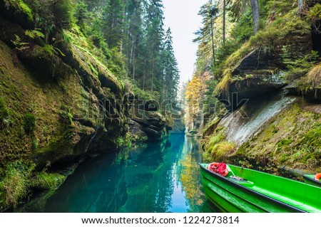 Picturesque view of Hrensko national Park, situated in Bohemian Switzerland, Czech Republic  Stock photo ©