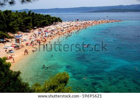 Picturesque view on Golden Cape on Brac island, Croatia - stock photo