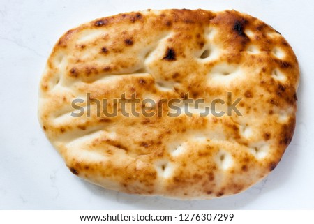 Pide Bread Pita or Ramazan Pidesi isa traditional Turkish Bread #1276307299