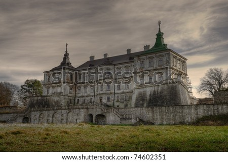 Pidhirtsi Castle is a residential castle located in the village of Pidhirtsi (Podhorce) near Lviv, Ukraine. HDR image