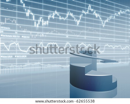 Pie Chart and Stock Market Graph