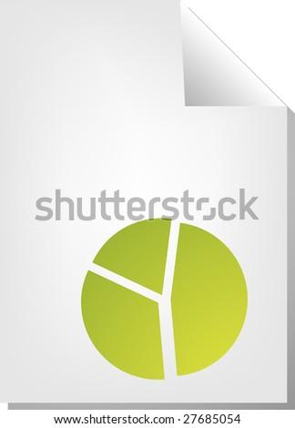 Pie chart document file type illustration clipart