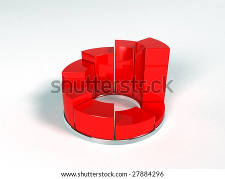 Pie Graph (3d render)