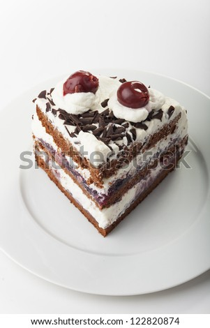 piece of a black forest cake