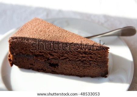 piece of a brown cake