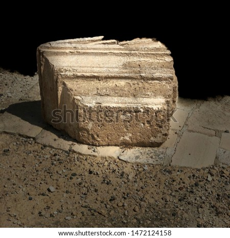 Piece of Ancient Greek column from Greek ruins