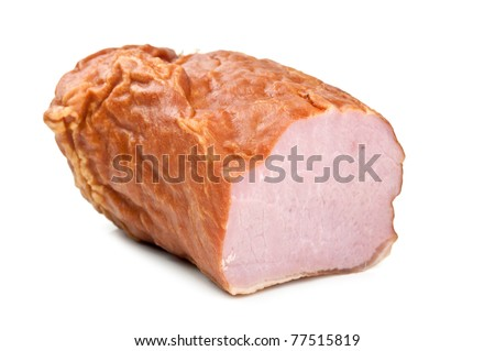 piece of bacon isolated on a white background