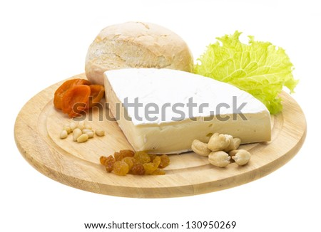 piece of Brie cheese