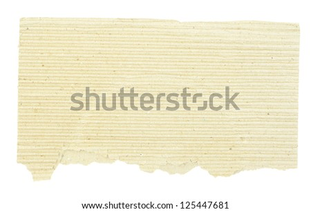 piece of brown cardboard on white