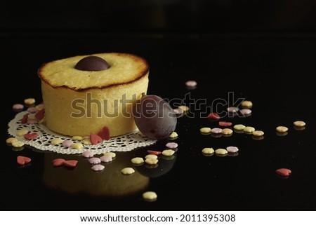 piece of cake with deko.  Stok fotoğraf ©