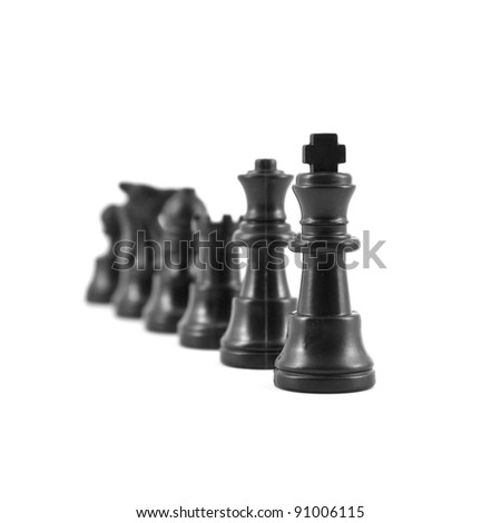 piece of chess isolated on white background