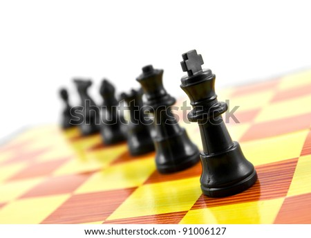 piece of chess no board isolated on white background