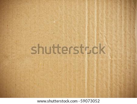 piece of corrugated cardboard - stock photo