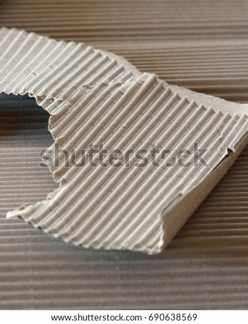 Piece of corrugated cardboard #690638569
