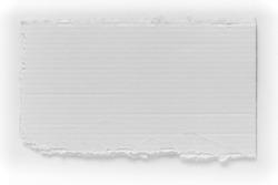 Piece of white cardboard tear texture, blank sign board
