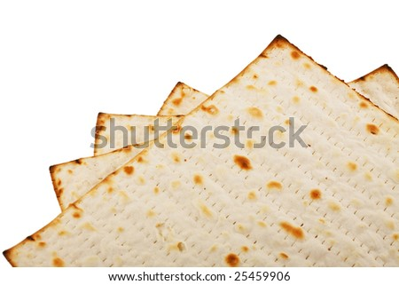 Pieces matzot prepared for celebrating passover ceremony