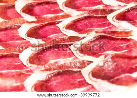 pieces of jamon