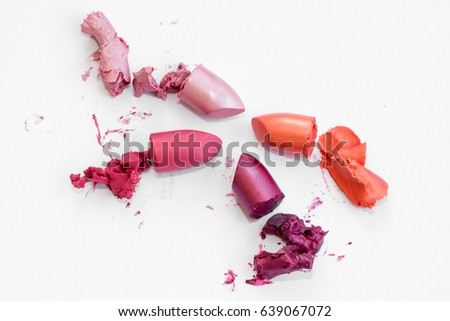 Pieces of lipstick with crumbs #639067072