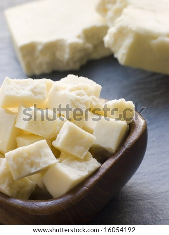 Pieces of Paneer Cheese