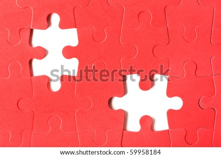 Pieces of puzzle - abstract background