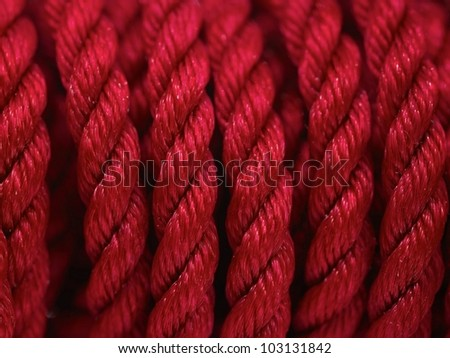 Pieces of rope isolated against a white background