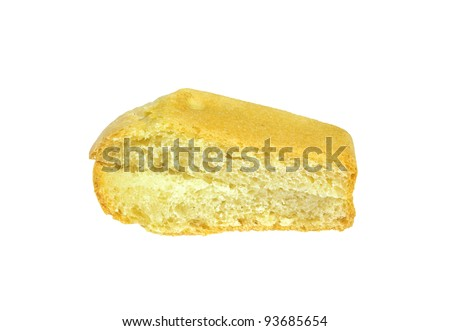 pieces of sliced bread isolated on white background