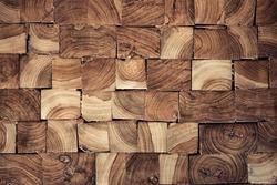 pieces of teak wood stump background