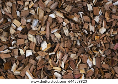 Pieces of wood for smoking. Chips for smoke.