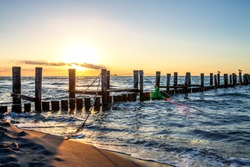 Pier and Beach of Zingst, Germany
