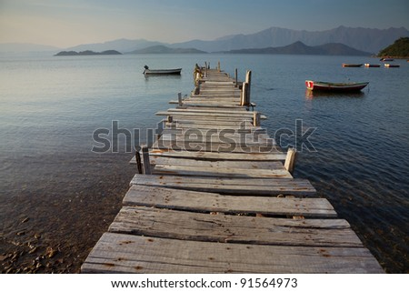 pier and boat