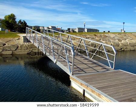 pier at an artificial lake