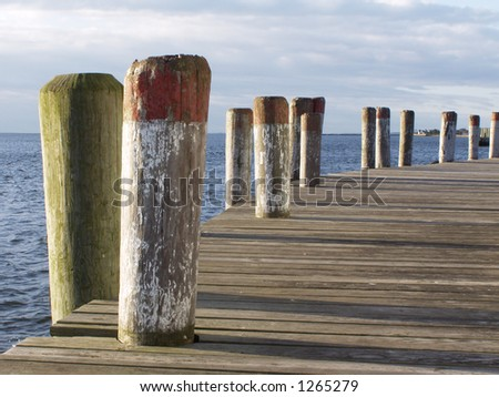 Pier at Early Morning - stock photo