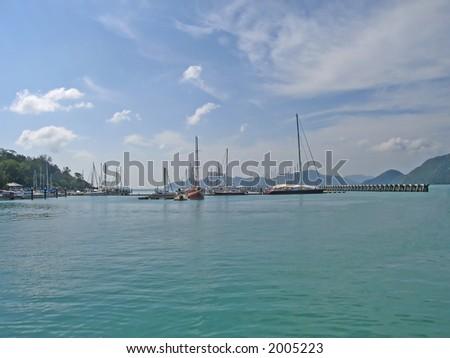 Pier at Langkawi island (Malaysia)