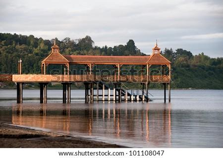 Pier at Lllanquihue lake, Frutillar (Chile)