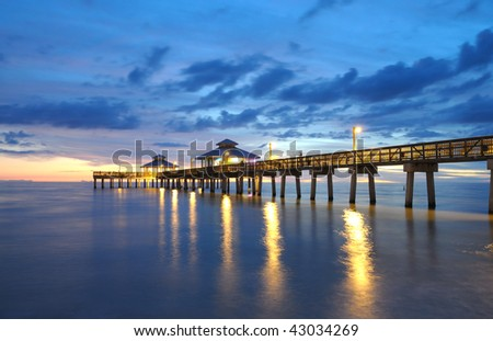 Pier at Sunset in Fort Myers, Florida