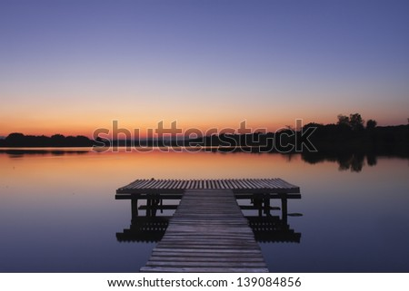 pier at the lake
